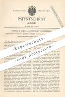Original Patent - Haniel & Lueg , Düsseldorf / Grafenberg 1884 , Hydraulische Pneumatische Gestängeausgleichung | Pumpe - Historische Dokumente