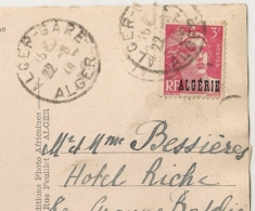 DAGUIN SOLO ALGER GARE (Foulage) Sur 3F GANDON Algérie. 1946. - Briefe U. Dokumente