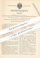 Original Patent - J. W. Stous Sloot , Utrecht , Holland , 1884 , Tragfedern Am Fuhrwerk | Kutsche , Wagen , Pferde ! - Historische Dokumente
