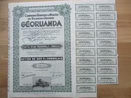 Compagnie Géologique Et Minière Du Ruanda Urundi - Georuanda - Action De 500 Fcs Congolais - Afrika