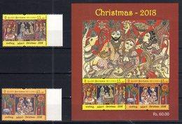 SRI LANKA , 2018, MNH,CHRISTMAS, ANIMALS, 2v+SHEETLET - Christmas