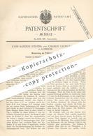 Original Patent - John Sanders Stevens , Charles George Major , London England , 1884 , Türschloss , Schloss | Schlosser - Historische Dokumente
