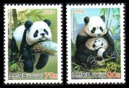 North Korea 2012 Mih. 5948/49 Fauna. Pandas MNH ** - Corée Du Nord