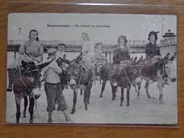 Blankenberge, Un Départ De Touristes (toeristen Op Ezel, Ane, Donkey) -> Beschreven 1907 - Blankenberge