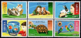Aruba - 2018 - Fauna - House Pets - Mint Stamp Set - Curazao, Antillas Holandesas, Aruba