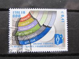*ITALIA* USATI 2001 - CARTA DIRITTI UNIONE EUROPEA - SASSONE 2542 - LUSSO/FIOR DI STAMPA - 6. 1946-.. Repubblica