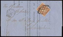 PUERTO RICO. 1869 (10 Abr). Ed 16. San Juan - Barcelona / Peninsula. Circular Impresos Franqueo 10c Marron Antillas. Via - Puerto Rico