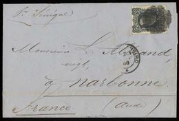 BRAZIL. 1880 (Aug 7). Rio J - France. EL Frkd D. Pedro ABN Blackbeard Perce, Cork Cancel. Carried By The Senegal. Scarce - Unclassified