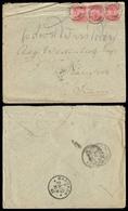 "SIAM. 1887 (July 27). INCOMING MAIL. Morsholm / Denmark - SIAM. Multifrkd Env Via Brindisi With Excellent Strike ""BKK - - Siam"