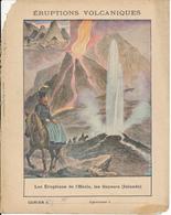 Couverture De Cahier - Les Eruptions De L'Hécla, Les Geysers (Islande) - Schuehmacher - Protège-cahiers
