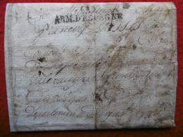LETTRE MARQUE ARMEE D ESPAGNE BARCELONE VIA VALLERAUGUE GARD JEAN VASSAS 16é REGIMENT DE LIGNE 1826 - Marcophilie (Lettres)