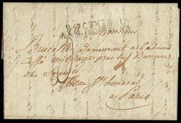 E-PREFILATELIA. 1810 (15 Abril). Astorga / Leon - Paris. OCUPACION FRANCESA. Carta Con Texto Marca BAU / Control / Arm D - Spagna