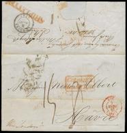BRAZIL. 1845 (12 Dec). Rio Grande - RJ - France. E Fwded Via Rio Janeiro By Miller Le Coaq (displays Excellent) To Londo - Unclassified
