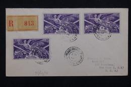 WALLIS & FUTUNA - Enveloppe En Recommandé Pour Les Etats Unis En 1947 , Affranchissement Plaisant - L 22688 - Covers & Documents