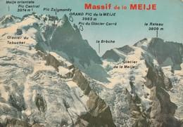 Rare Cpsm Massif De La Meije - Frankreich