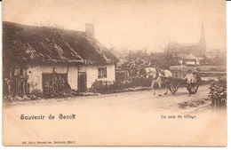 SOUVENIR DE GENCK UN COIN DE VILLAGE PAARD MET KAR ATTELAGE  Ca 1905 Re 818 /d4 - Genk
