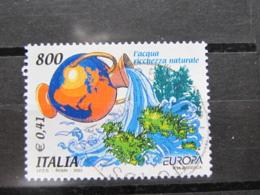 *ITALIA* USATI 2001 - EUROPA UNITA - SASSONE 2541 - LUSSO/FIOR DI STAMPA - 6. 1946-.. Repubblica