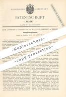 Original Patent - Max Lohmann , Hannover | Max Stolterfoht , Berlin 1884 , Klauen- Reibungskupplung | Kupplung Eisenbahn - Historische Dokumente