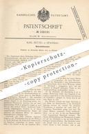 Original Patent - Karl Rettig , Berlin / Spandau , 1899 , Notenblattwender | Notenblatt | Musik , Musikinstrumente !! - Historische Dokumente