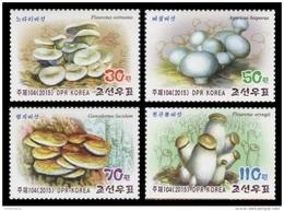 North Korea 2015 Mih. 6183/86 Flora. Mushrooms MNH ** - Korea, North