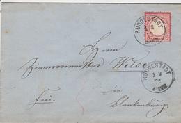 Allemagne Lettre Rudostadt 1872 - Germany