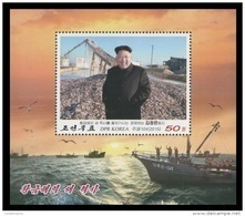 North Korea 2015 Mih. 6228 (Bl.91) New History Of Golden Sea. Kim Jong Un. Ships. Fauna. Fishes. Birds MNH ** - Corée Du Nord