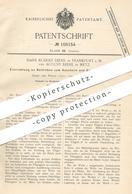 Original Patent - Hans Rudolf Diehl , Frankfurt / Main | August Diehl , Metz  1898 , Bottich Zum Gerben | Gerber , Leder - Historische Dokumente