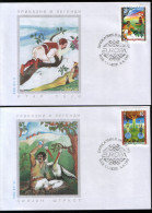 Macedonia 1997 Europa CEPT, Legends, Set FDC - Europa-CEPT