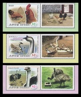 North Korea 2016 Mih. 6269/71 Fauna. Poultry (with Labels) MNH ** - Korea, North