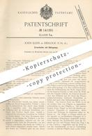 Original Patent - John Klein , Desloge , USA , 1902 , Erzscheider Mit Rührgumpe | Erz , Erze | Rührwerk | Trichter !!! - Historische Dokumente