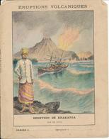 Couverture De Cahier - Eruption De Krakatoa (Java) - Schuehmacher - Protège-cahiers