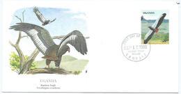 Enveloppe 1er Jour Ouganda FDC Bateleur Eagle 1989 - Ouganda (1962-...)