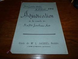 Etude Notaire Me Jacques Dom-le-Mesnil  Adjudication Familles Lambeaux Rose 1912 - Documents Historiques