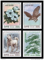 North Korea 2017 Mih. 6395/98 Definitive Issue. Flora And Fauna. Nationals Flower, Bird, Dog And Tree MNH ** - Korea, North