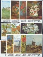 Bhutan 324-333 Van Gogh Complete Set/12 Neuf** Sans Charniere, Mint NH, Scott 1016-1027 - Bhoutan