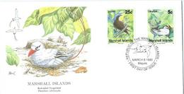 Enveloppe 1er Jour Marshall Islands FDC Red Tailed 1990 - Marshall