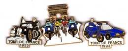 3 Pin's Gendarmerie Puzzle Tour De France Traction  Zamac Y.Delsart - Armee
