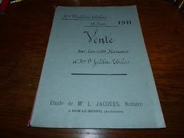 Etude Notaire Me Jacques Dom-le-Mesnil  Vente 1911 Consorts Moreaux Lefebvre Thillois - Documents Historiques