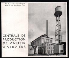 1940  --  CENTRALE DE PRODUCTION DE VAPEUR A VERVIERS  3Q661 - Vieux Papiers