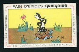 BUVARD:  PAIN D'EPICE GRINGOIRE - PITHIVIERS EN GATINAIS - LE LIÈVRE ET LA TORTUE (ILLUSTR. COQ) - Biscottes