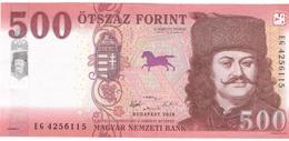 Hungary 500 Forint 2018 Pnew UNC - Hungría