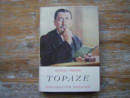 MARCEL PAGNOL  TOPAZE  COLLECTION POURPRE AVEC JAQUETTE  FLASQUELLE EDITEURS1951 - Bücher, Zeitschriften, Comics