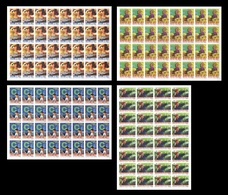 North Korea 2019 Mih. 6534B/37B Propaganda Posters. Metallurgy. Agriculture. Science. Electricity (imperf)(sheets)MNH ** - Korea, North