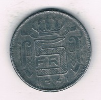 5 FRANC 1941 VL  BELGIE /1282/ - 1934-1945: Leopold III