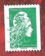 Marianne L'engagée Lettre Verte Roulette N° 126 - Roulettes