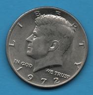 """USA 1/2 DOLLAR 1972 """"Kennedy Half Dollar"""" - Federal Issues"""
