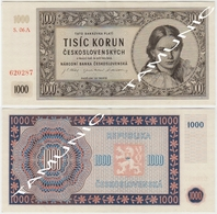 CZECHOSLOVAKIA CESKOSLOVENSKA 1000 Korun 1945 - Tsjechoslowakije