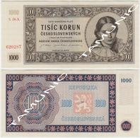 CZECHOSLOVAKIA CESKOSLOVENSKA 1000 Korun 1945 - Checoslovaquia
