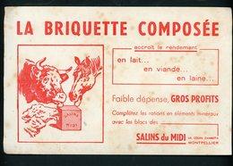 BUVARD:  SALINS DU MIDI - MONTPELLIER - LA BRIQUETTE COMPOSÉE - Buvards, Protège-cahiers Illustrés