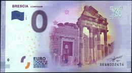 Zero - BILLET EURO O Souvenir - BRESCIA Il Capitolium 2017-1set UNC {Italy} - EURO